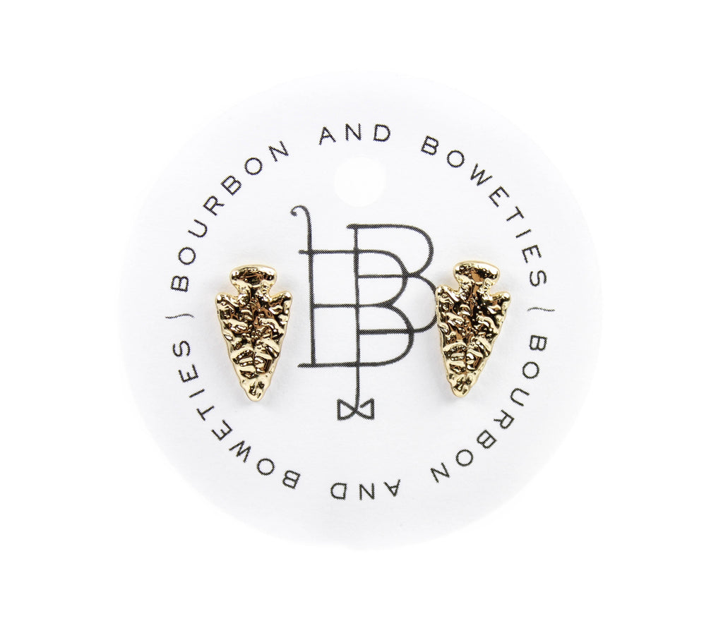 Bourbon and Boweties - Arrowhead Stud Earrings Earrings Bourbon and Boweties - Bows and Arrows FSU Seminoles and UF Gators Women's Game Day Dresses and Apparel