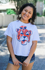 The Erin Aubie the Tiger  Cropped Tee