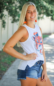 The Lindsay Aubie the Tiger Muscle Tank