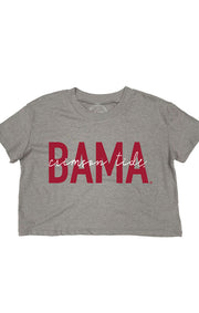 'Bama Iconic Cropped Tee (3771662827568)