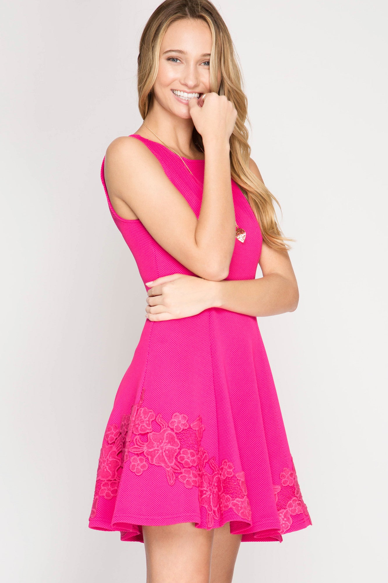 Barbie Hot Pink Fit & Flare Dress Dress She & Sky - Bows and Arrows FSU Seminoles and UF Gators Women's Game Day Dresses and Apparel