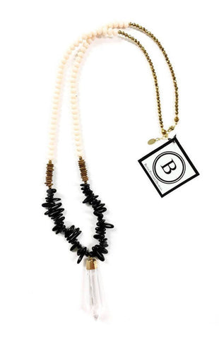 The Caroline Spiked Beaded Necklace