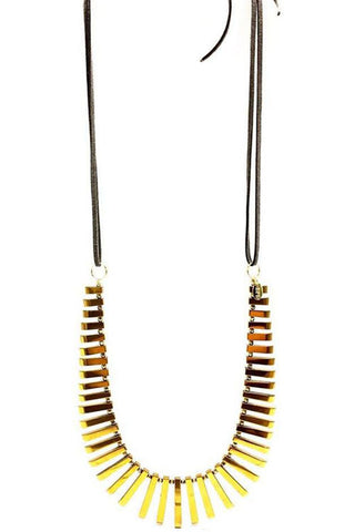 The Cleo Hematite Spike Necklace