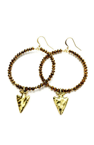 The Mina Arrowhead Earrings Jewelry Betsy Pittard - Bows and Arrows FSU Seminoles and UF Gators Women's Game Day Dresses and Apparel