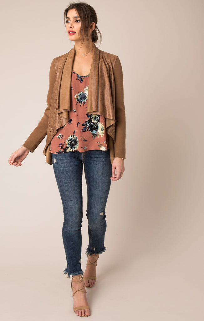 Erica Soft Suede Jacket - Almond