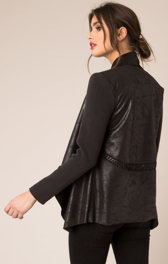 Erica Soft Suede Jacket - Black