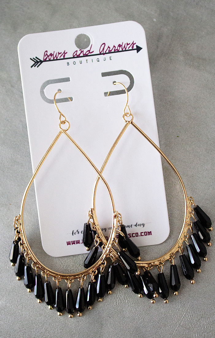 The Black Charms Teardrop Earrings