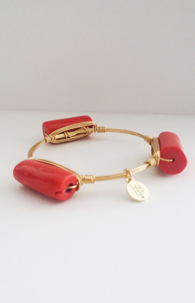 Bourbon and Boweties - Orange Coral Bangle Jewelry Bourbon and Boweties - Bows and Arrows FSU Seminoles and UF Gators Women's Game Day Dresses and Apparel