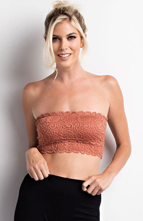 Brick Lace Bandeau Bralette Wishlist - Bows and Arrows FSU Seminoles and UF Gators Women's Game Day Dresses and Apparel