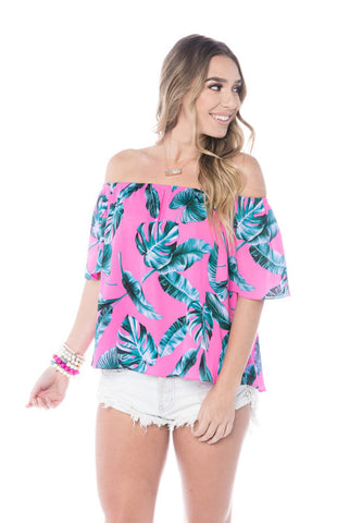 Bellini Sunrise Off Shoulder Top