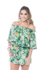 Newport Night Palm Print Romper