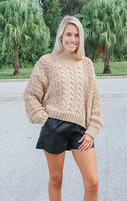 The Soft Camel Chenille Sweater