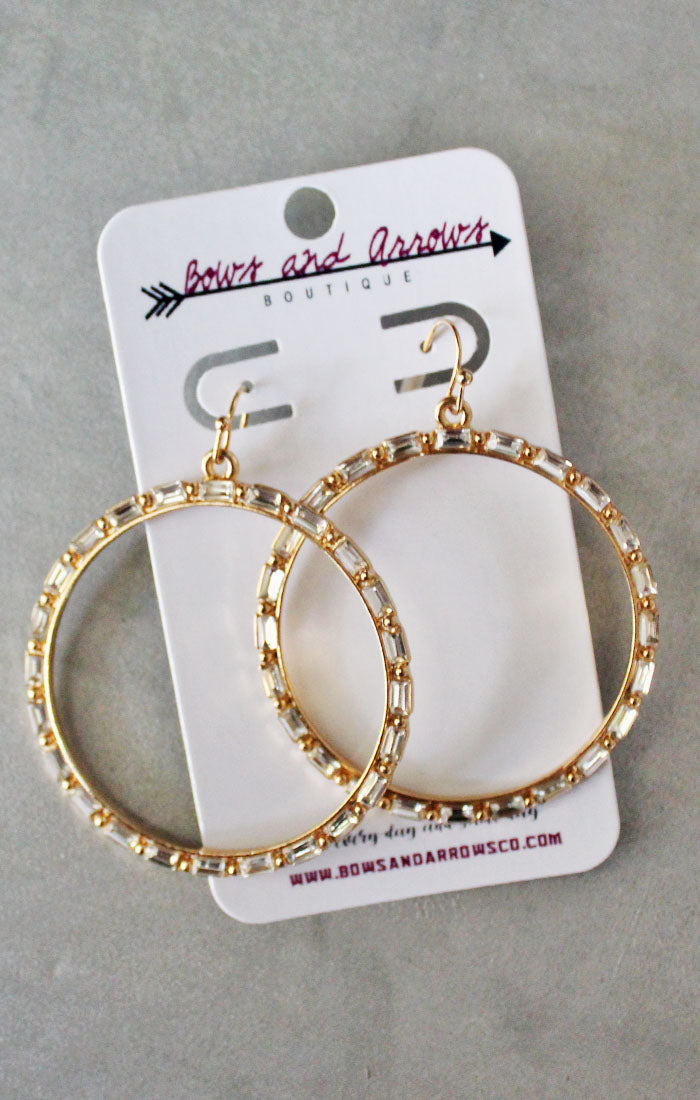 The Baguette Bead Circle Earrings (4327578992688)