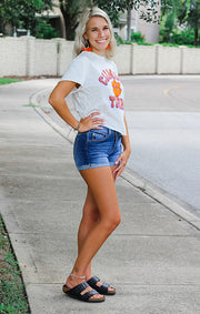 The Erin Clemson Tigers Cropped Tee