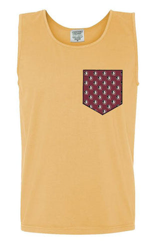 FSU Herringbone Trimmed Side Split Tee
