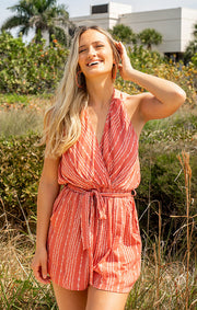 The Key West Romper - Clay (4446267998256)