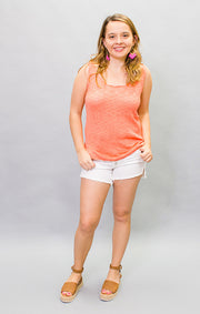 The Seaside Sweater Tank - Coral (4447029002288)