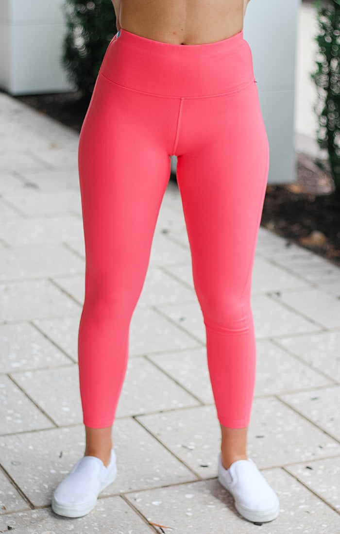 The Thermal High Waist Legging (Bubblegum)