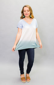 The Delray Dip Dye Tee - Blue (4447036702768)