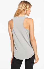The Pocket Racer Tank (Dusty Sage)