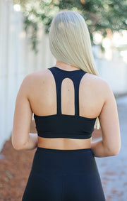 The Essential Twin Straps Racerback (Black)