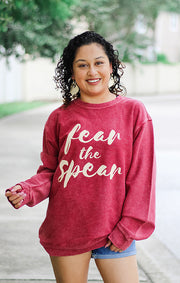 The Fear the Spear Legend Corded Crew Pullover