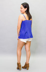 The Fernandina Fern Cami - Royal Blue (4445475733552)