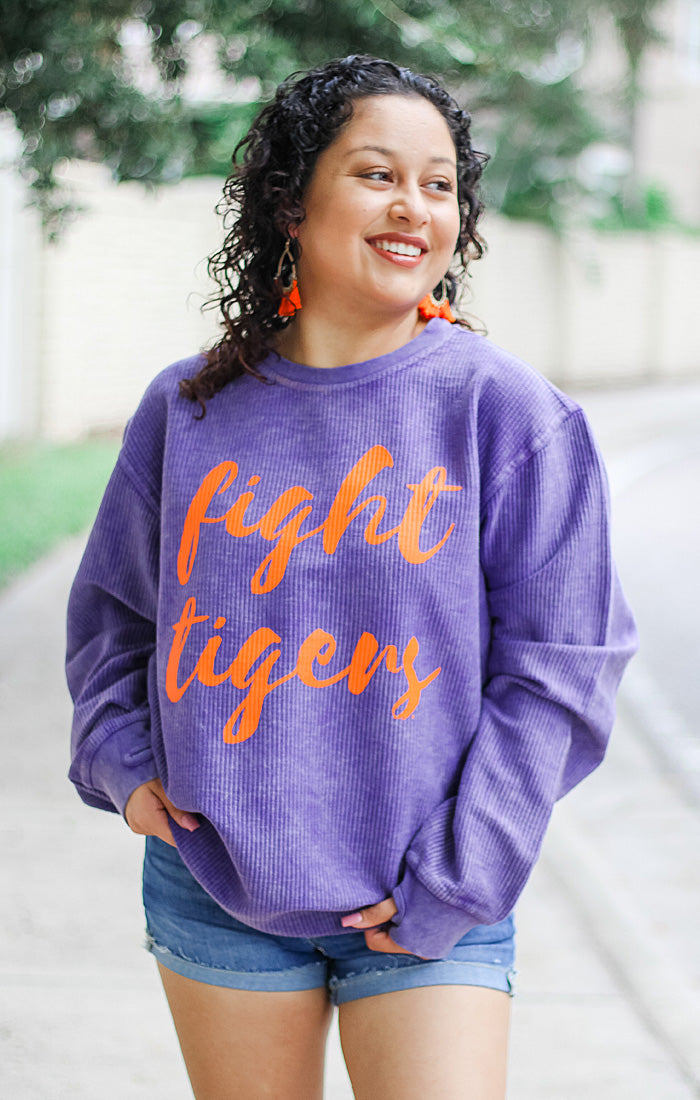 The Fight Tigers Legend Corded Crew Pullover