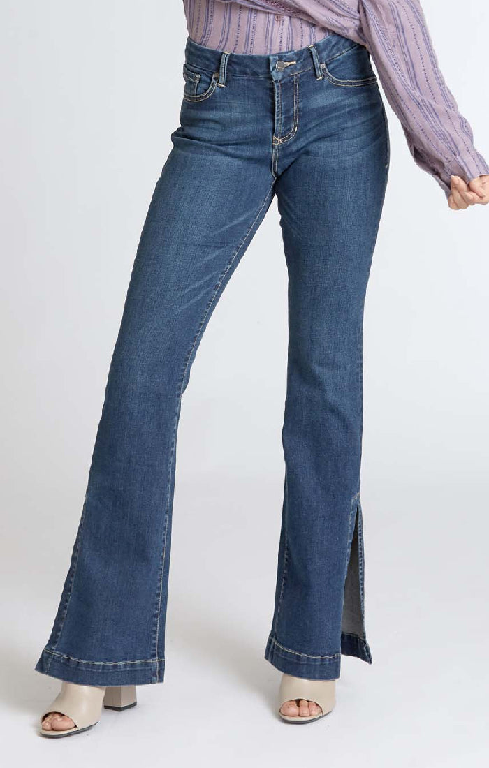 The Sadie High Rise Flare - Mirage Wash (4118925901872)