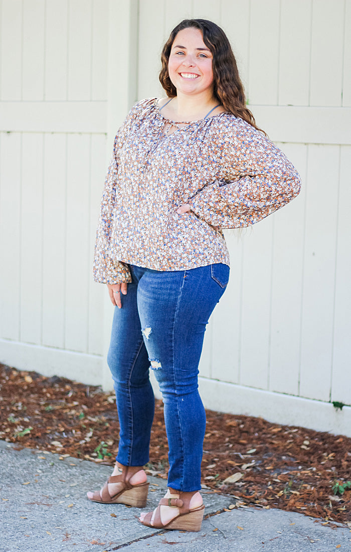 The Spring Floral Boho Blouse