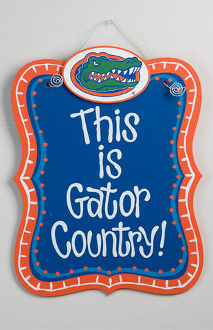 This is Gator Country Hanging Board