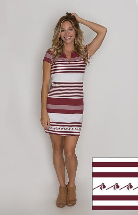 Tomahawks & Stripes Game Day Dress