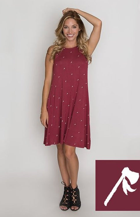 The Tomahawk A-Line Game Day Dress