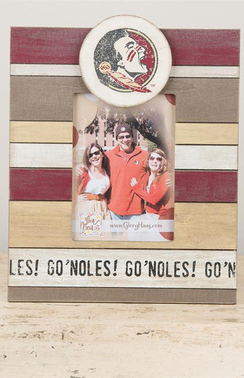 FSU Go 'Noles Vintage Photo Frame Picture Frame Glory Haus - Bows and Arrows FSU Seminoles and UF Gators Women's Game Day Dresses and Apparel
