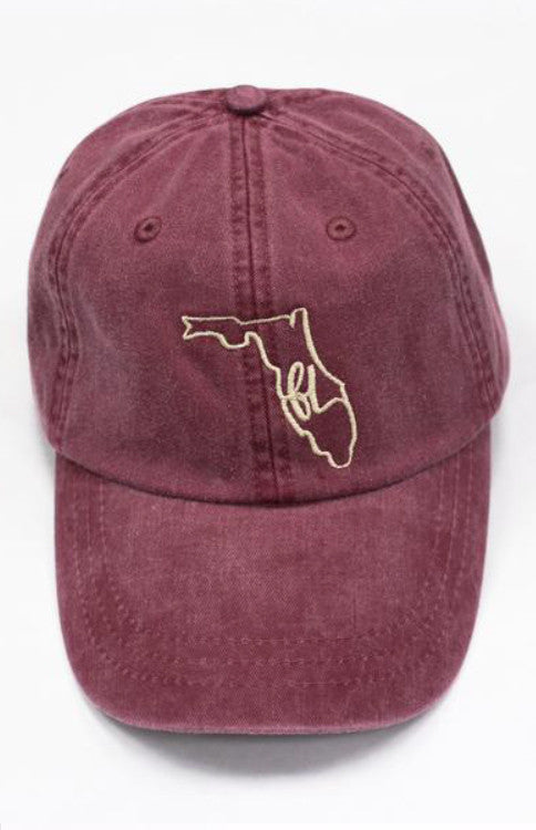 FL State Loop Hat - Burgundy