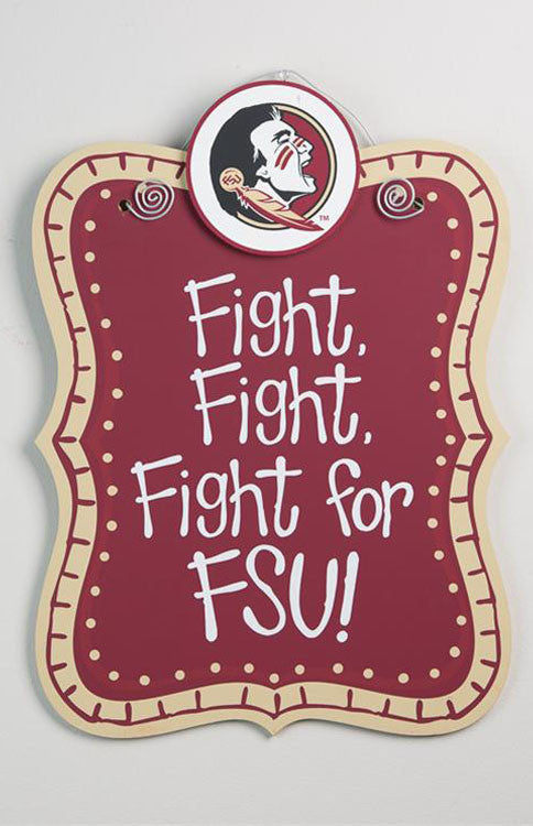 "Florida State Seminoles ""Fight for FSU"" Sign Sign Glory Haus - Bows and Arrows FSU Seminoles and UF Gators Women's Game Day Dresses and Apparel"