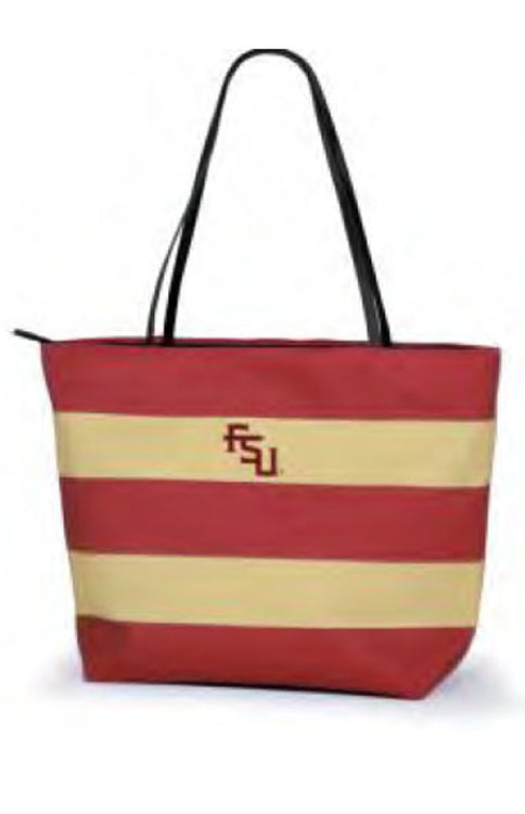Florida State Rugby Striped Tote