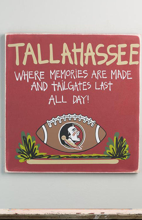 Florida State Seminoles Tallahasee Tailgate Sign Sign Glory Haus - Bows and Arrows FSU Seminoles and UF Gators Women's Game Day Dresses and Apparel