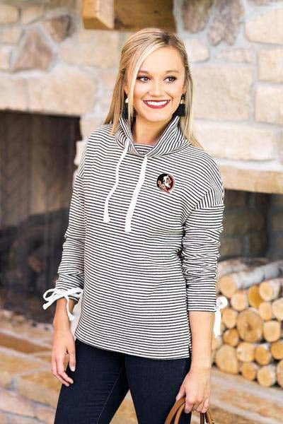 Florida State Seminoles Sunday Funday Funnel Neck Knit Top (1492949663792)