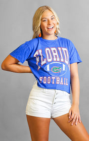 The Erin Florida Football Cropped Tee