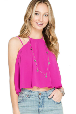 Flowy Cami Top - Fuchsia Cami She & Sky - Bows and Arrows FSU Seminoles and UF Gators Women's Game Day Dresses and Apparel