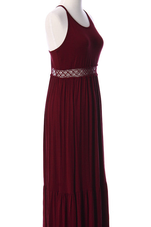 Open Back Garnet Maxi Dress Game Day Dresses Bows and Arrows Co LLC - Bows and Arrows Co LLC