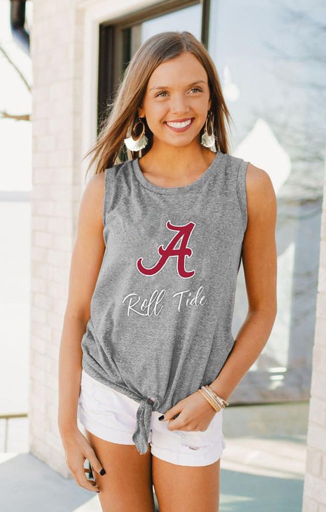 Alabama Crimson Tied & True Side Tie Tank