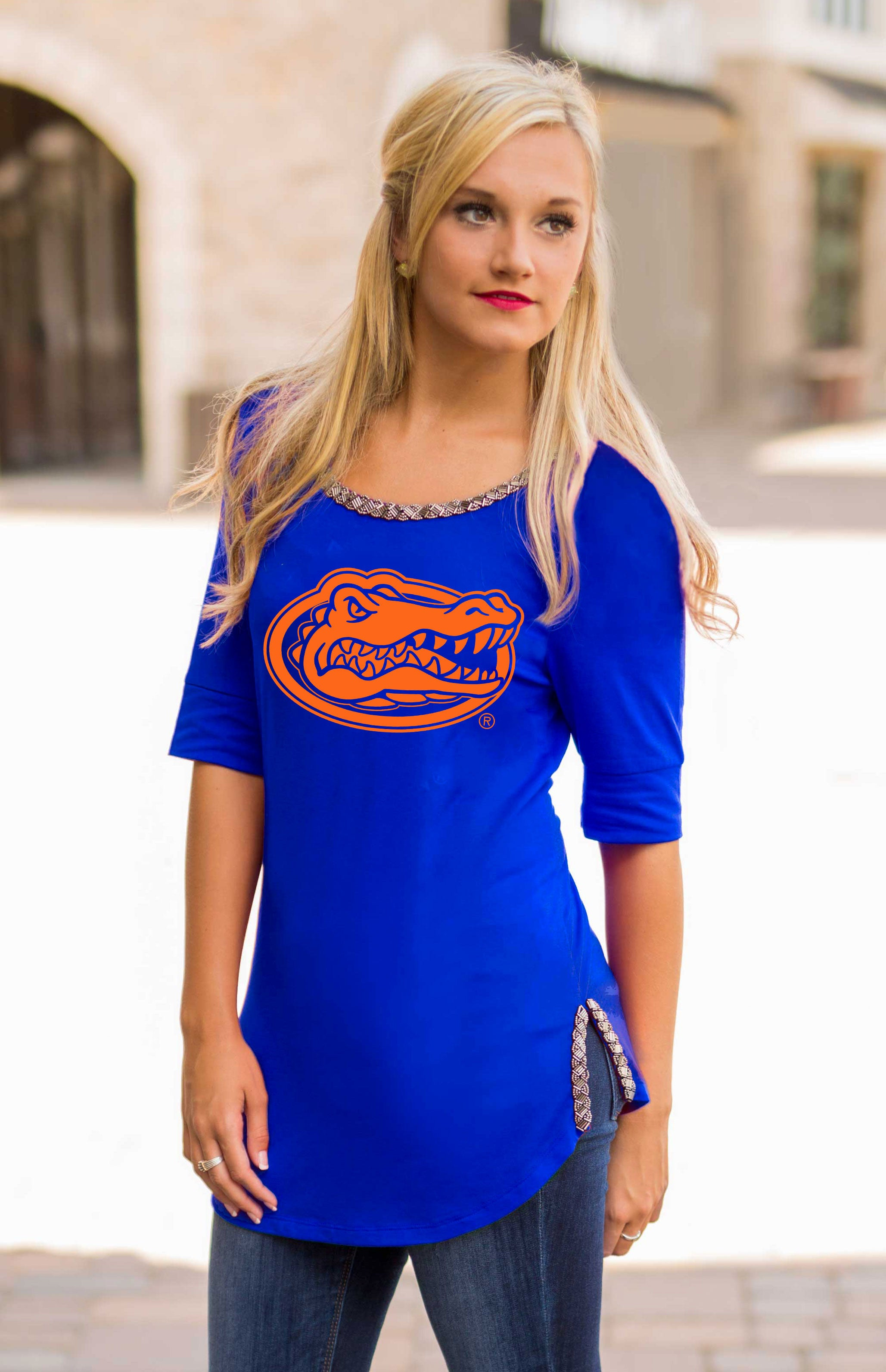 Beaded Trim University Of Florida Gators Tee