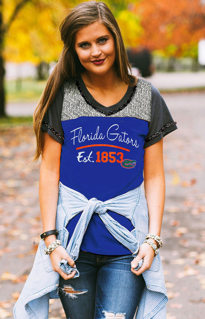 Florida Gators 1853 Football Tee Tee Game Day Couture - Bows and Arrows FSU Seminoles and UF Gators Women's Game Day Dresses and Apparel