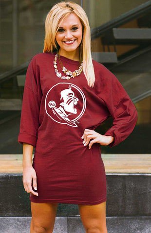 Florida State Seminoles Tee Dress Game Day Dresses Game Day Couture - Bows and Arrows FSU Seminoles and UF Gators Women's Game Day Dresses and Apparel