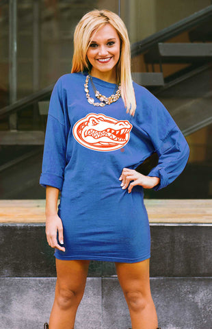 Florida Gators Tee Dress Game Day Dresses Game Day Couture - Bows and Arrows FSU Seminoles and UF Gators Women's Game Day Dresses and Apparel