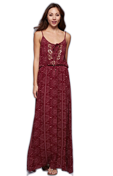 Garnet & Gold Sequins Maxi Dress Maxi Dress Love Stitch - Bows and Arrows FSU Seminoles and UF Gators Women's Game Day Dresses and Apparel