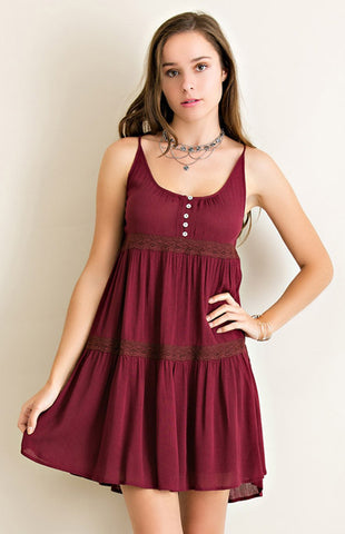 Garnet Babydoll Game Day Dress Game Day Dresses Entro - Bows and Arrows FSU Seminoles and UF Gators Women's Game Day Dresses and Apparel