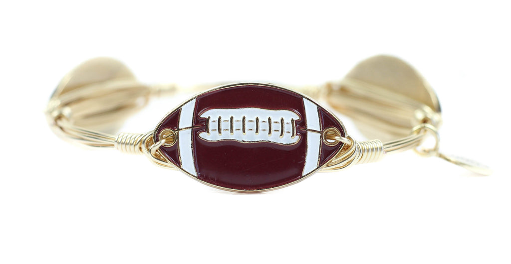 Bourbon and Boweties - The Garnet Football Bangle Bangle Bourbon and Boweties - Bows and Arrows FSU Seminoles and UF Gators Women's Game Day Dresses and Apparel